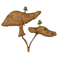 Toadstools on Toadstools! - Plain or Engraved - MDF Wood Shape