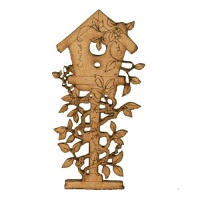Birdhouse & Climbing Vines - MDF Wood Shape
