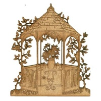 Summer Gazebo Scene - MDF Wood Shape