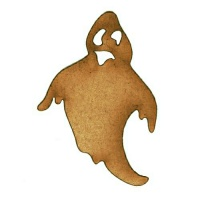 Ghastly Ghost MDF Wood Shape - Style 1