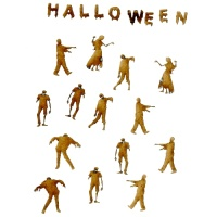 Zombies - Sheet of Halloween Mini Wood Shapes