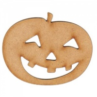 Smiling Carved Pumpkin MDF Wood Shape