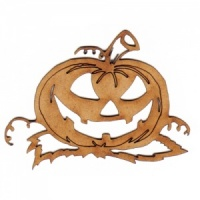 Carved Pumpkin & Vines MDF Wood Shape