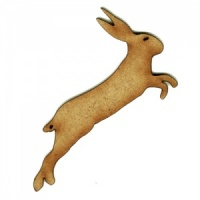 Leaping Hare - MDF Wood Shape