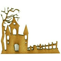 Cemetary Lodge - MDF Wood Scene