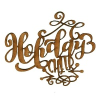 Holiday Cheer - Decorative MDF Wood Words