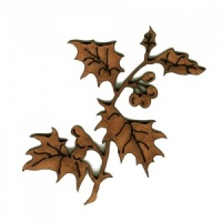 Holly Leaf Twig & Berries -  MDF Wood Shape