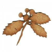 Holly Leaf Silhouette - MDF Wood Shape