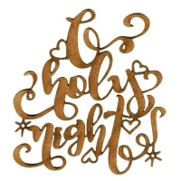 O Holy Night - Decorative MDF Wood Words