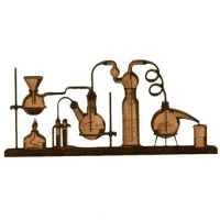 Chemistry Laboratory Apparatus  - MDF Wood Shape 01