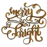 Merry & Bright - Decorative MDF Wood Words