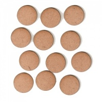 Circle Shape - Mini MDF Wood Plaques