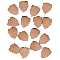 Shields - MDF Mini Wood Shapes