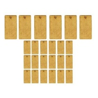 Sheet of Mini MDF Tags - Rounded Rectangles