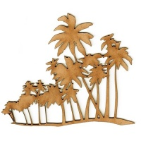 Row of Palm Trees MDF Wood Shape