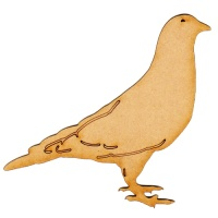 Pigeon MDF Wood Bird Shape