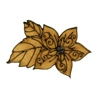 Poinsettia Flower MDF Wood Shape