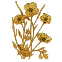 Wild Poppies MDF Wood Shape - Style 51