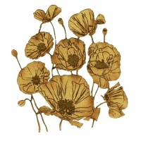 Wild Poppies MDF Wood Shape - Style 55
