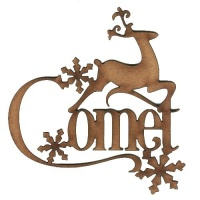 Comet - Decorative MDF Wood Words