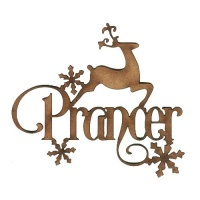 Prancer - Decorative MDF Wood Words