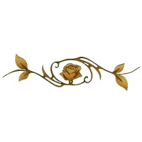 Rose with Vine Frame - Flora & Fauna Flourish Style 17