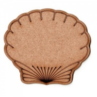 Scallop Seashell - MDF Wood Shape Style 1