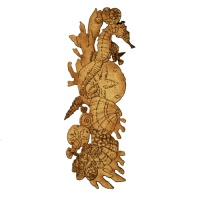 Seahorse & Seashell Collage - MDF Wood Shape