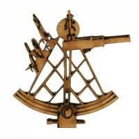 Ships Sextant MDF Wood Shape - Style 2