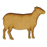 Sheep Silhouette MDF Wood Shape