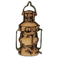 Ship's Lantern MDF Wood Shape