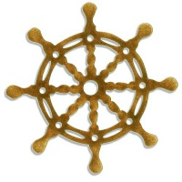 Ships Wheel Style 3 - MDF Wood Shape
