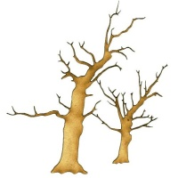 Skeleton Tree Duo MDF Wood Shape - Style 1