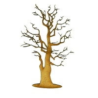 Skeleton Tree MDF Wood Shape - Style 5