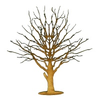 Skeleton Tree MDF Wood Shape - Style 8