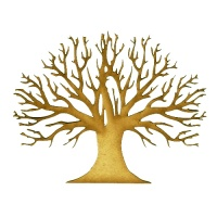 Skeleton Tree MDF Wood Shape - Style 10
