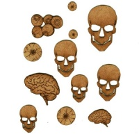 Skulls, Brains & Eyeballs - MDF Add On Sheet