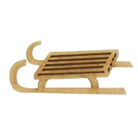 Slatted Sled - MDF Wood Shape