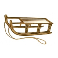 Slatted Sled with Rope - MDF Wood Shape Style 3