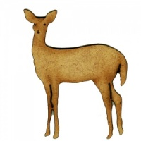 Doe Deer MDF Wood Shape Style 5