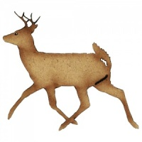 Running Buck MDF Wood Deer Shape Style 7