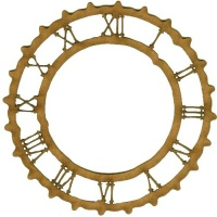 Rustic Roman Numeral Clock Face - MDF Wood Shape