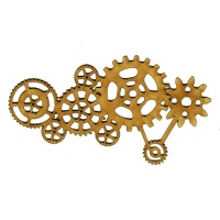 Steampunk Mechanical Cogs Motif Style 1