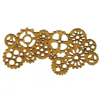 Steampunk Mechanical Cogs Motif Style 2