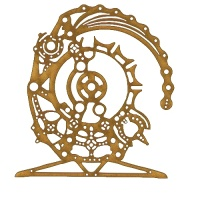 Steampunk Mechanical Clockworks Motif Style 5