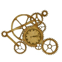 Steampunk Mechanical Clockworks Motif Style 15