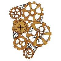 Steampunk Mechanical Clockworks Motif Style 17