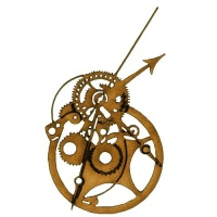 Steampunk Mechanical Clockworks Motif Style 24