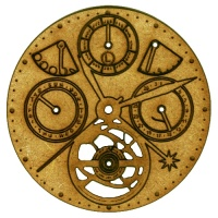 Steampunk Mechanical Clockworks Motif Style 26