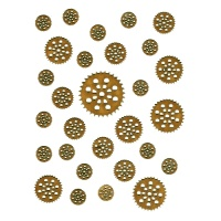 Sheet of Mini MDF Wood Cogs - Style 9